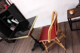 mobilier de bistrot table de bistrot carrée émaillée anthracite u2022 guéridon émaillé