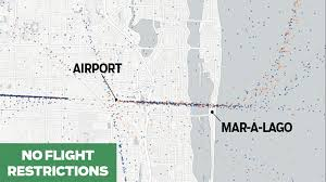 West Palm Beach Fl Map Flight Paths Change Dramatically When Donald Trump Is In Palm