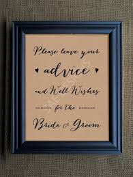 Card From Bride To Groom On Wedding Day Wedding Day Advice For The Bride And Groom Sign By Saedesignstudio