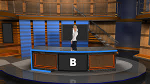 News Studio Desk by Virtual Set Studio 181 For Photoshop Is A News Desk With Stairs