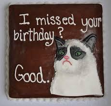 Grumpy Cat Birthday Memes - grumpy cat piper cakes