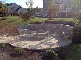 Outdoor Stone Firepits by Fire Pits American Exteriors U0026 Masonry