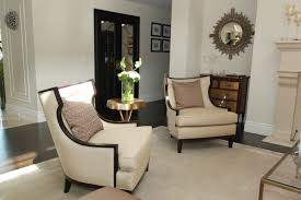 small accent chairs for living room funiture grey fabric wingback accent chair with cushion and