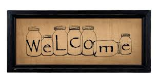 B Home Decor by Mason Jar Stitchery Welcome Sign Shelley B Home And Holiday Com