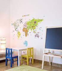 World Map Wall Decal by Amazon Com Wall Point Sticker World Map 2pcs Set Baby