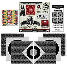 amazon scrapbook customs big wrestling themed paper and amazon scrapbook customs big wrestling themed paper and stickers kit arts crafts sewing