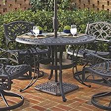 42 Patio Table Amazon Com Home Style 5554 30 Biscayne Round Outdoor Dining