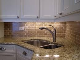 Brick Backsplash Kitchen - White brick backsplash