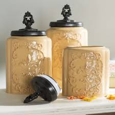 white canisters for kitchen white kitchen canisters jars you ll wayfair