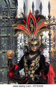 venetian costume in costume at carnival of venice 2017 stock photo royalty