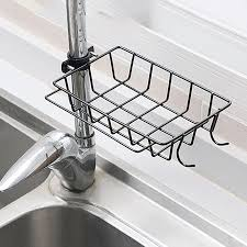 kitchen sink cabinet sponge holder household kitchen sink faucet drainer sponge brush holder organizer storage rack