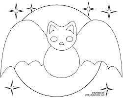 frightful bat coloring pages hellokids com set of vector black