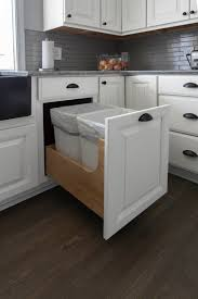 kitchen base cabinets 18 inch depth wastebasket cabinet pull out storage for trash recycling