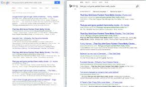 why google will always be better than bing funny