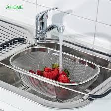 over the sink colander adjustable over the sink colander bowl shaped draining basket