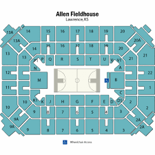 map of allen allen fieldhouse seating chart allen fieldhouse tickets allen