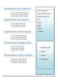 curriculum vitae formato europeo download pdf da compilare curriculum curriculum vitae modello 06 modello curriculum