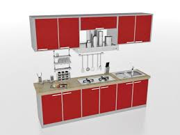 straight line kitchen designs red straight line kitchen design 3d