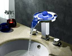 decorative led faucets for a modern bathroom