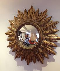 Mirrors For Sale Decorating Mcm Gilded Gold Sunburst Mirror For Mesmerizing Wall