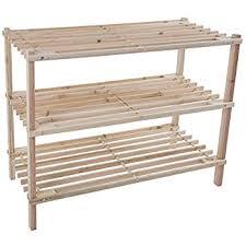 Closet Storage Bench Amazon Com Wood Shoe Rack Storage Bench U2013 Closet Bathroom