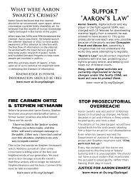 aaron swartz flyers why we protest anonymous activism forum