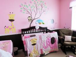bedroom wonderful black pink wood modern design baby room