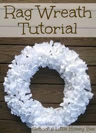 how to make a wreath rag wreath tutorial graceful honey bee