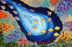 painting of fish paintings of fish sea art painting of the