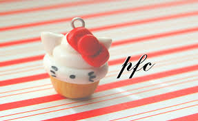 diy hello kitty cupcake polymer clay charm tutorial youtube