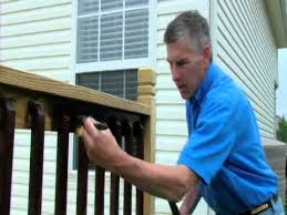 copy of how to apply stain to deck spindles one time wood