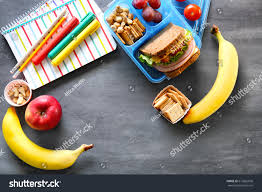 On Table Lunch Stationery On Table Stock Photo 613862696 Shutterstock