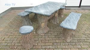 gartenmöbel gartentisch aus beton youtube