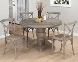 pretty grey dining table set on jofran burnt grey 5 piece round