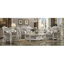 White Gold Living Room Theater White Living Room Sets You U0027ll Love Wayfair