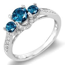 blue and white engagement rings 45 best blue dreams images on blue diamonds