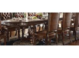 vendome double pedestal dining table with two leaves in cherry