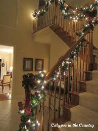 staircase with lights calypso in the country