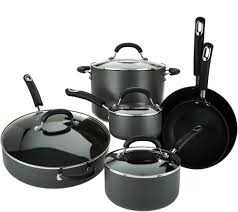 Cuisinart Dishwasher Safe Anodized Cookware Circulon 10 Piece Hard Anodized Dishwasher Safe Cookware Set