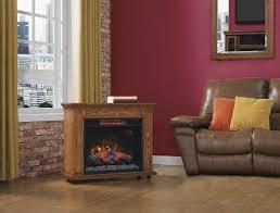duraflame rolling mantel with infrared quartz fireplace premium