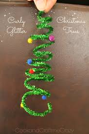 cook and craft me crazy curly glitter christmas trees