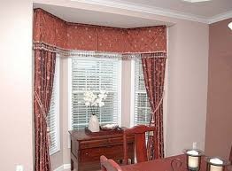 catchy bay window curtain ideas showing the interior beauty easily