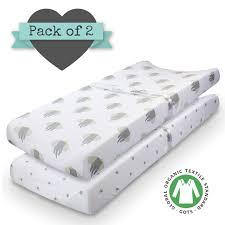 amazon com 100 organic jersey cotton crib fitted sheets 2pk