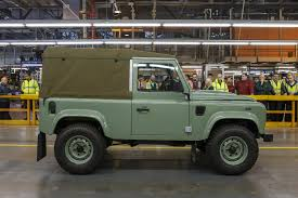 jeep defender 2016 last land rover defender rolls off the production line by car magazine