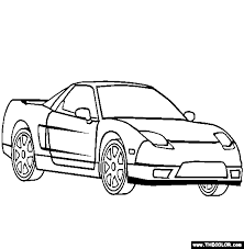 cars coloring pages acura nsx coloring free acura nsx