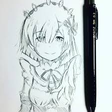quick rem from re zero sketch anime amino