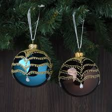 set of 6 sparkle and jewels european glass ornaments robertson