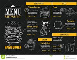 vector restaurant cafe menu with hand drawn graphic template stock