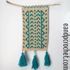 boho crochet boho crochet wall hanging and crochet