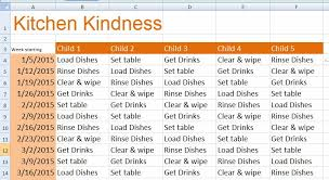 children daily chore chart template for excel formal word templates